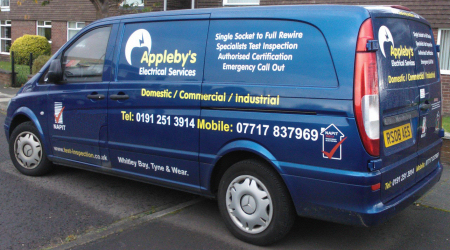 Appleby's Electrical Services van.